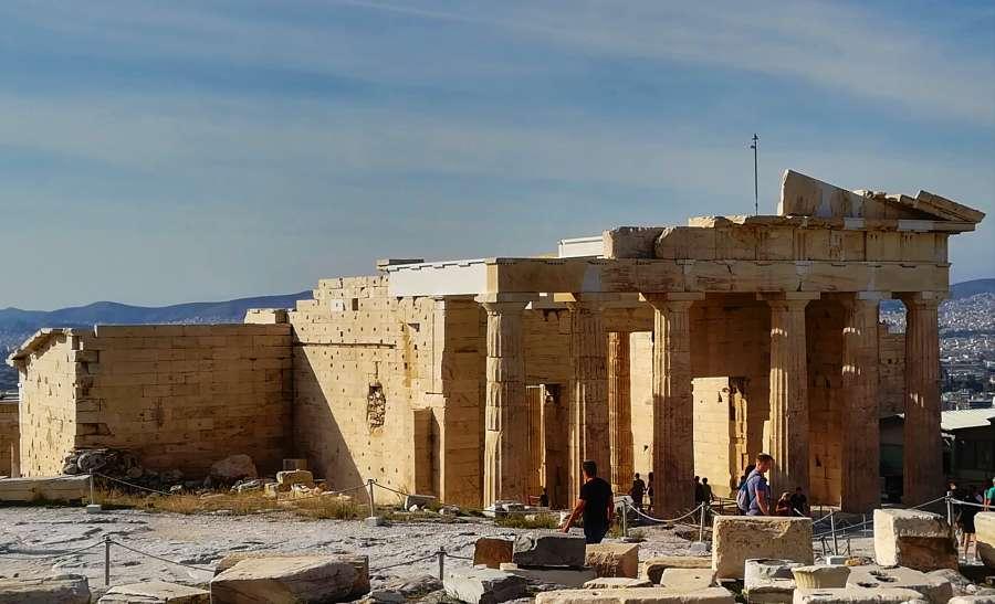 comentario y función de los propileos, etimologia del griego